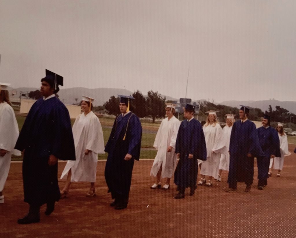 Lompoc High School Class of 1975 graduation ceremony.