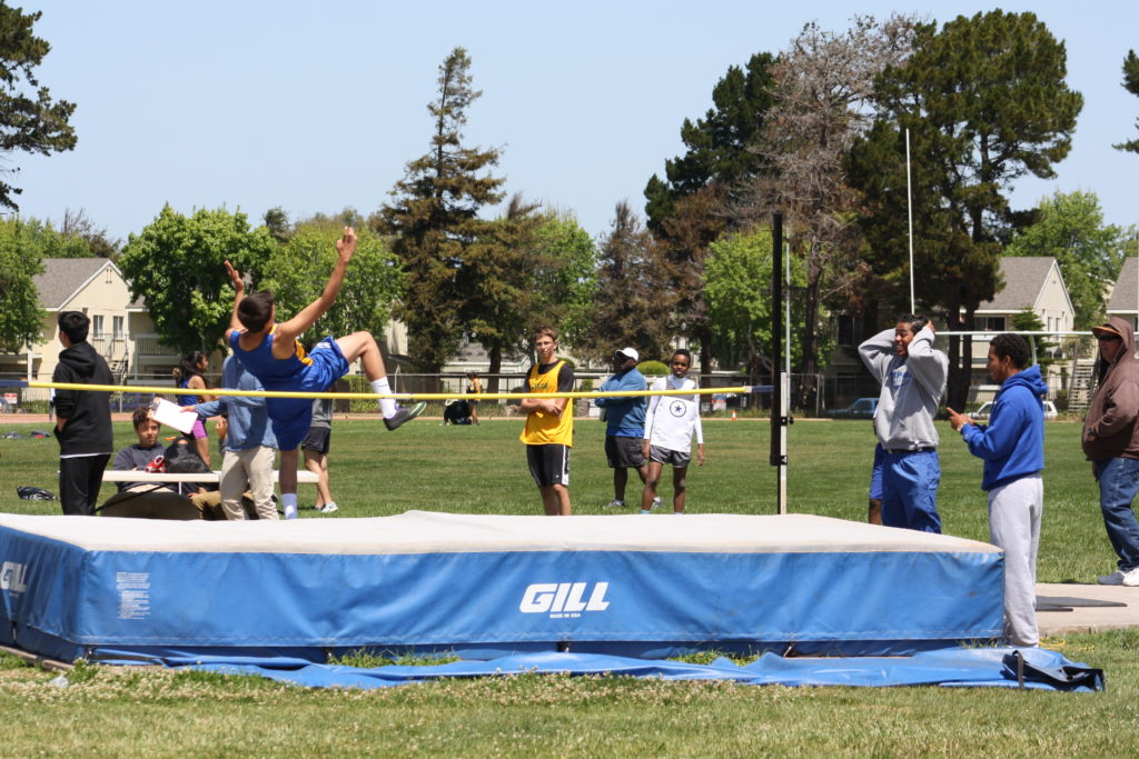 2016 Lompoc Kiwanis track meet - Lompoc Valley Middle School students doing the high jump. Photo submitted by Kari Campbell-Bohard.