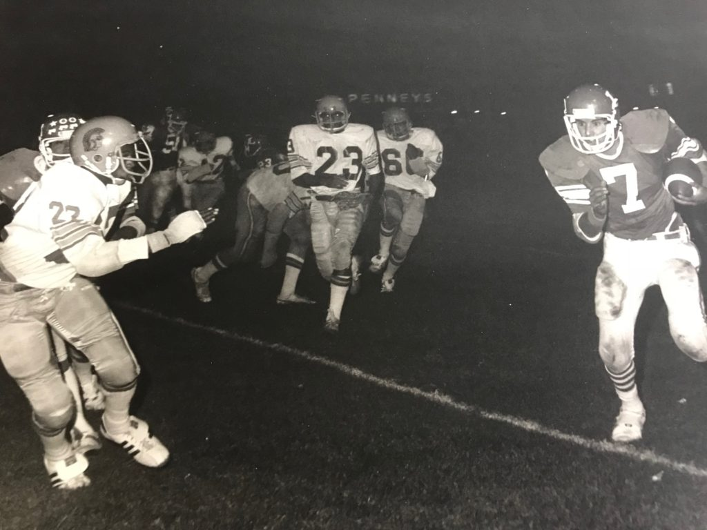 Pat Pacheco running the ball! 3 generations of Pacheco's played quarterback for LHS.