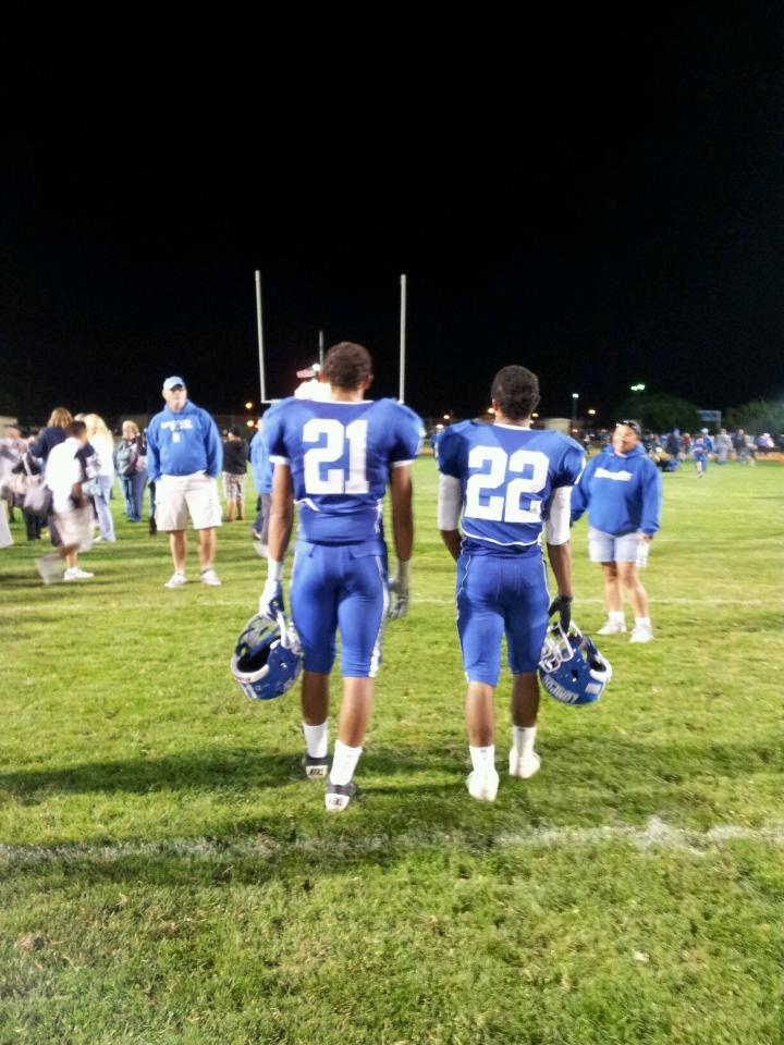 Nikko Hayes #21, Austin Hayes #22, 2013. Photo submitted by Lynda Leonard.