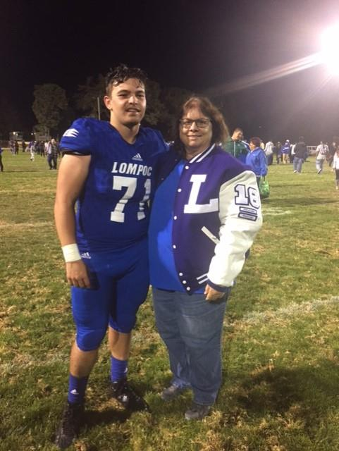 Cynthia Morr, LHS class of 1972, shared this photo of her grandson, Jeremiah Garcia who graduated from LHS in 2018. He played defensive line, nose guard, and tackle.