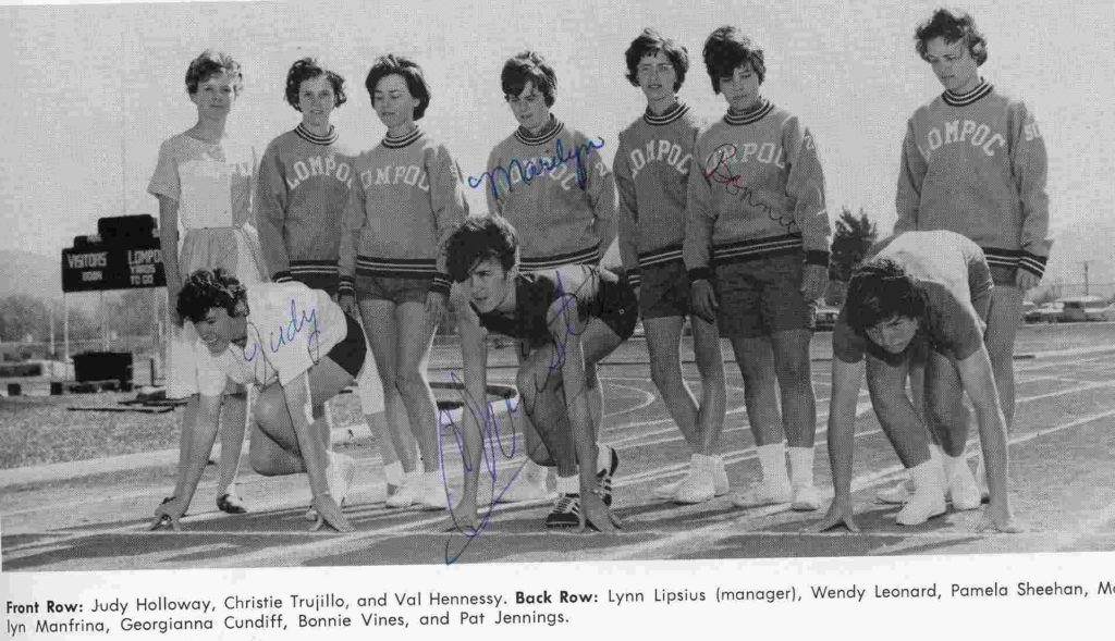 From the 1963-1965 Lompoc High School yearbook, submitted by Karen Paaske of the Lompoc Valley Historical Society.